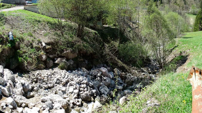 Torrent de la Fiolaz avant travaux